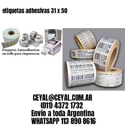 etiquetas adhesivas 31 x 50