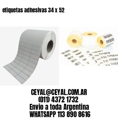 etiquetas adhesivas 34 x 52