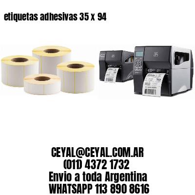 etiquetas adhesivas 35 x 94