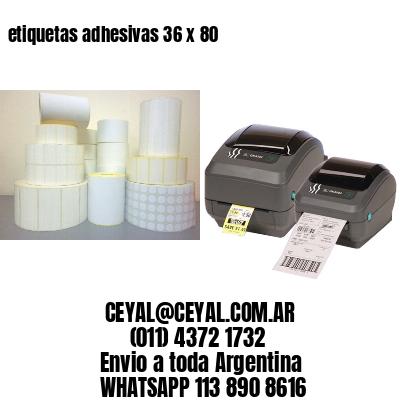 etiquetas adhesivas 36 x 80