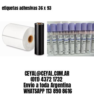 etiquetas adhesivas 36 x 93
