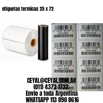 etiquetas termicas 25 x 72