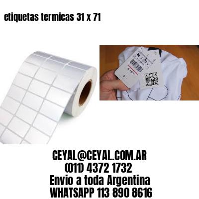 etiquetas termicas 31 x 71