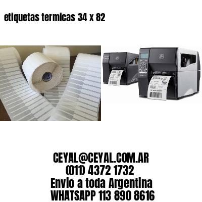 etiquetas termicas 34 x 82