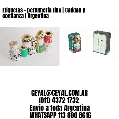 Etiquetas - perfumería fina | Calidad y confianza | Argentina