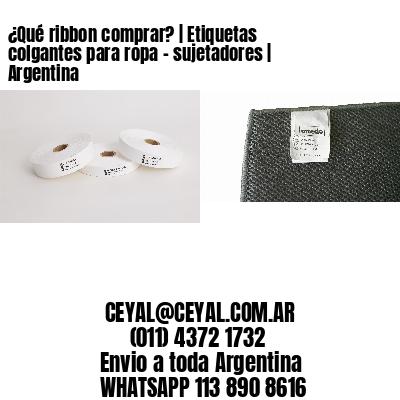 ¿Qué ribbon comprar? | Etiquetas colgantes para ropa - sujetadores | Argentina