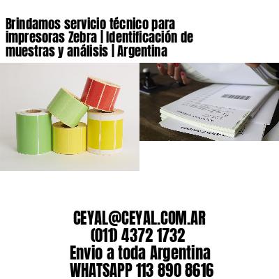 Brindamos servicio técnico para impresoras Zebra | Identificación de muestras y análisis | Argentina