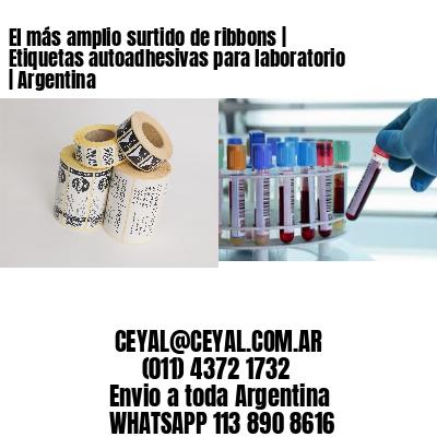 El más amplio surtido de ribbons | Etiquetas autoadhesivas para laboratorio | Argentina
