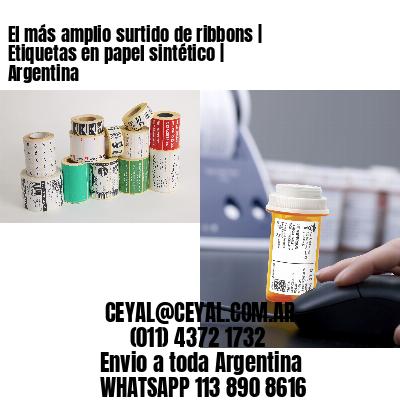 El más amplio surtido de ribbons | Etiquetas en papel sintético | Argentina