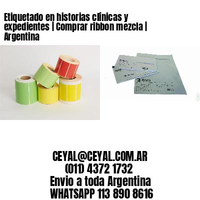 Etiquetado en historias clínicas y expedientes   Comprar ribbon mezcla   Argentina