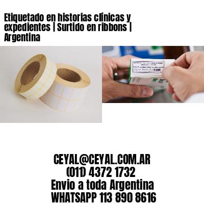 Etiquetado en historias clínicas y expedientes   Surtido en ribbons   Argentina