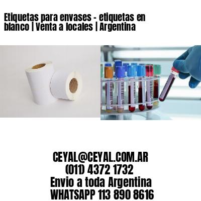 Etiquetas para envases - etiquetas en blanco | Venta a locales | Argentina