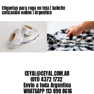 Etiquetas para ropa en tela | Solicite cotización online | Argentina