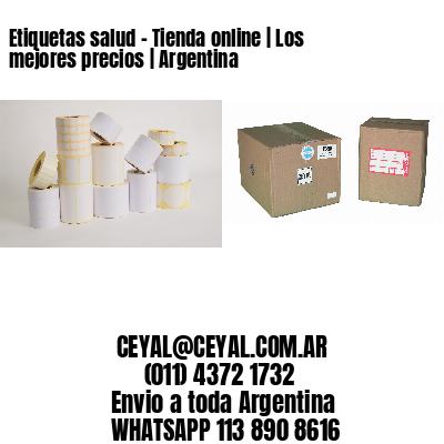 Etiquetas salud - Tienda online | Los mejores precios | Argentina