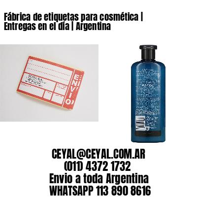 Fábrica de etiquetas para cosmética | Entregas en el día | Argentina