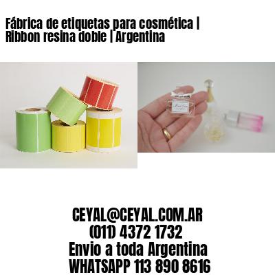 Fábrica de etiquetas para cosmética   Ribbon resina doble   Argentina
