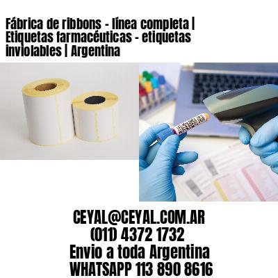 Fábrica de ribbons - línea completa | Etiquetas farmacéuticas - etiquetas inviolables | Argentina