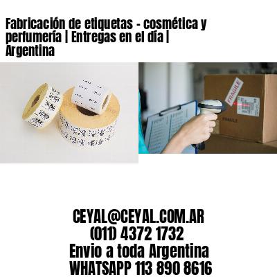 Fabricación de etiquetas - cosmética y perfumería | Entregas en el día | Argentina