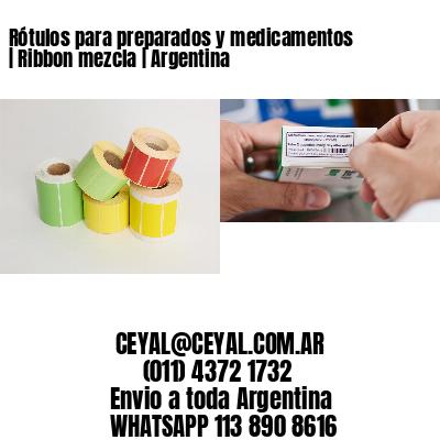 Rótulos para preparados y medicamentos   Ribbon mezcla   Argentina