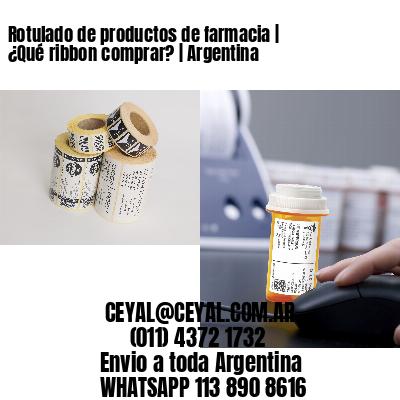 Rotulado de productos de farmacia   ¿Qué ribbon comprar?   Argentina